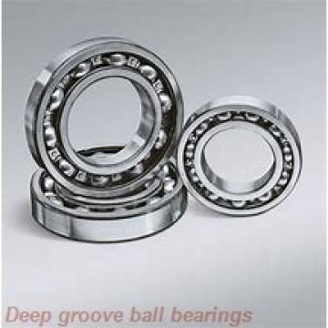 6,35 mm x 9,525 mm x 3,175 mm  ISO FR168BZZ deep groove ball bearings